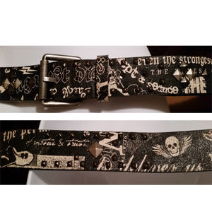 Express Accessories - Express black leather studded belt sz 40 unisex